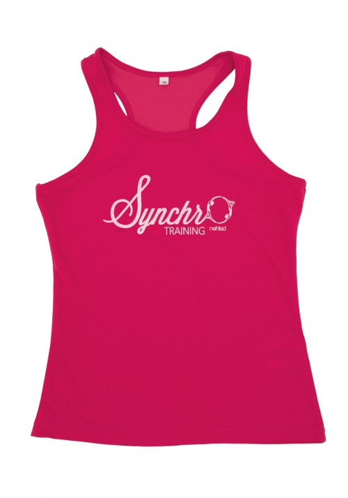 Synchro training Vest top / women fuschia