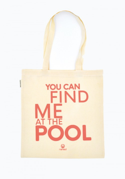 Pool Natural cotton tote bag